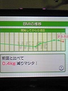 体重もマイナス0、4キロだ〜o(≧∀≦)o