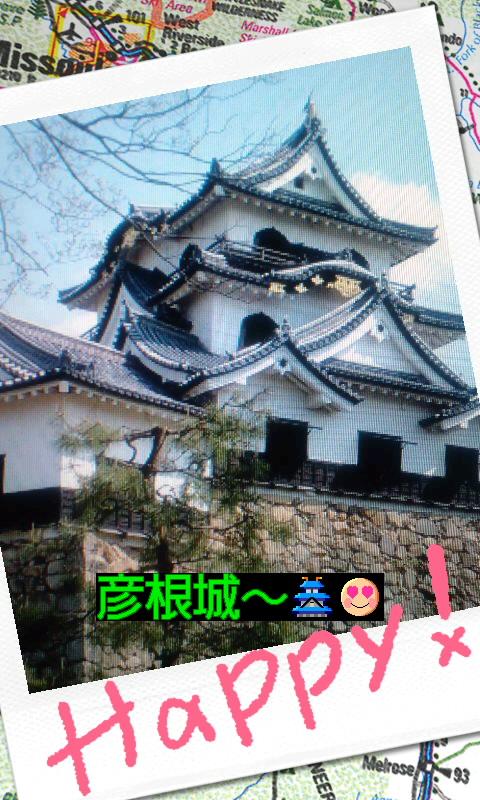 国宝の彦根城ですわ(^з^)-☆Chu!!