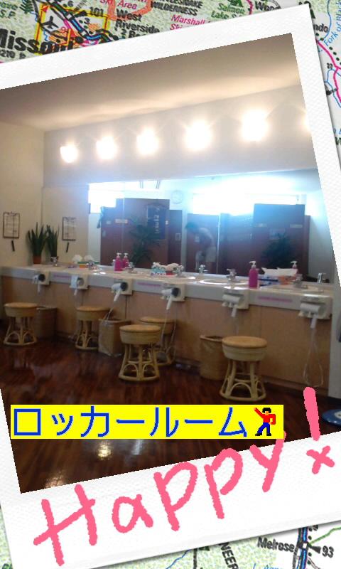 ジム内のロッカールームですよ〜(^з^)-☆Chu!!