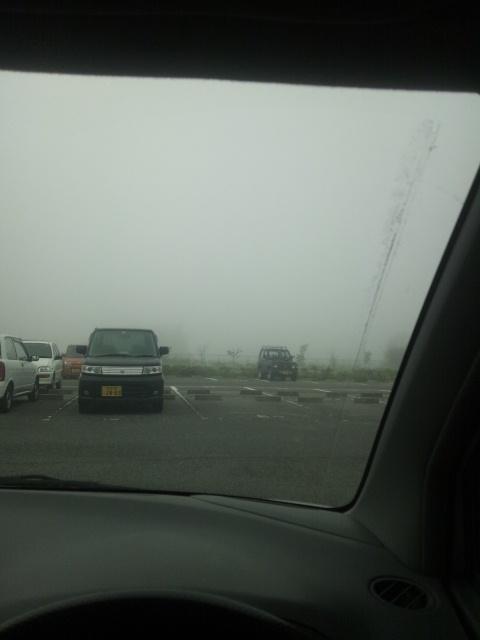 霧だ〜o( ̄ー ̄)○☆