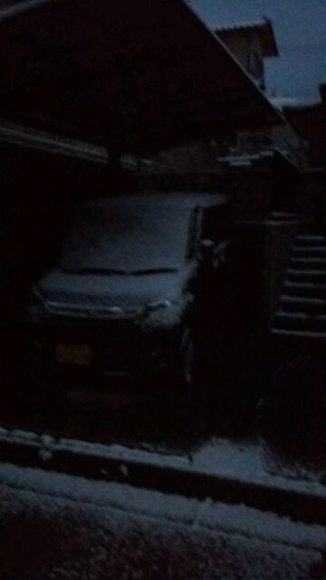 """雪だ〜(""""⌒∇⌒"""")"""
